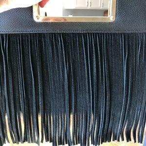Bebe Fringe Black Handbag